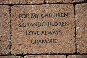 For my Grandchildren - inscribed paver