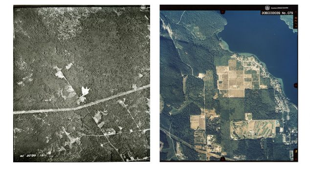 Aerial Views between 1957 and 2003